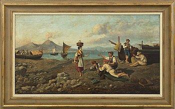 OKÄND KONSTNÄR, 1800-tal. olja på duk, signerad F. Pepe.
