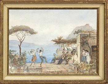 VADIM FALILEIEFF, watercolour, signed.