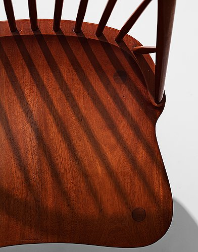 Hans j wegner, a chair by cabinetmaker th. pedersen for the nyborg public library, denmark, 1938.
