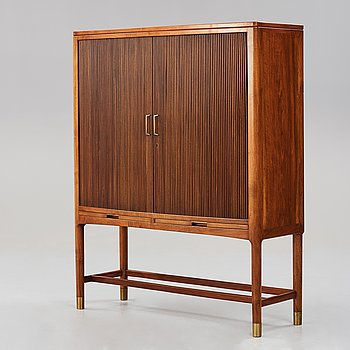 HANS J WEGNER, a bar cabinet executed by cabinetmaker Axel I Sørensen, for the Mayor's office, Aarhus City Hall,  1941.