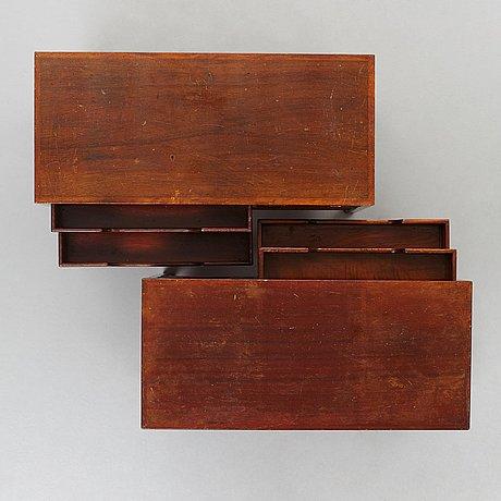 """Hans j wegner, telefonbord, 2 st, modell """"a3404"""", plan møbler, danmark 1940-tal."""
