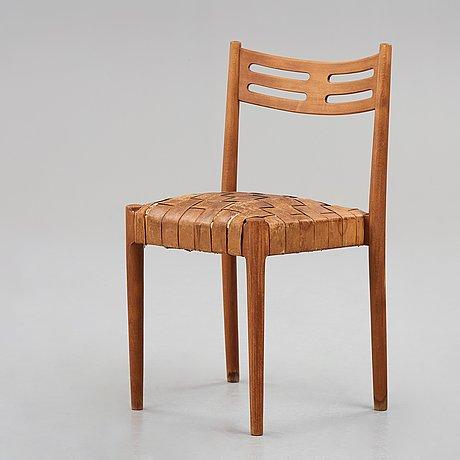Hans j wegner, a set of 3 + 1 chairs, plan møbler for aarhus city hall, denmark 1941.