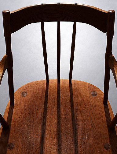 "Hans j wegner, a ""windsor"" chair for mikael lauersen, denmark, 1940's."