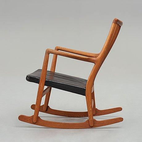 """Hans j wegner, a model """"m33"""" rocking chair for mikael laursen, denmark 1940's."""