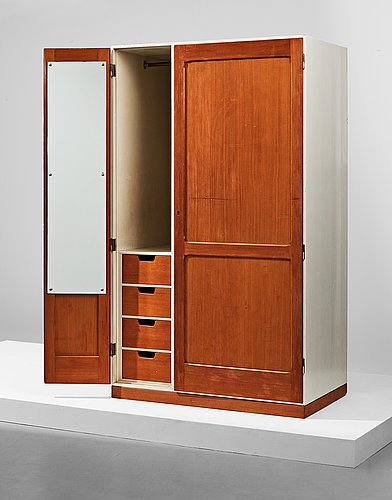 Hans j wegner, a cabinet, executed by hans j wegner for his private home, denmark 1945.