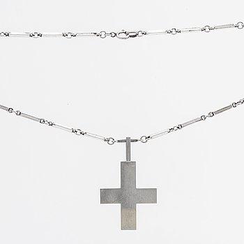 WIWEN NILSSON, kors med kedja silver Lund 1941.