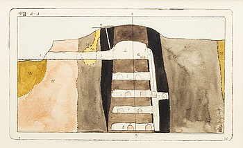 STEN EKLUND, hand colored etching, signed in the plate.