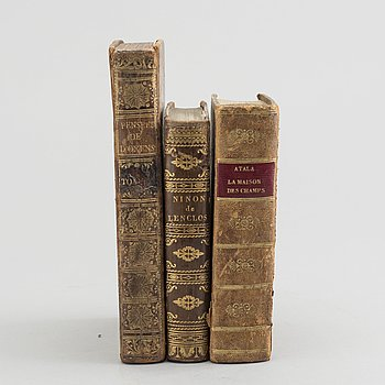 """BÖCKER, 3 st, bland annat """"Atala ou Les Amours..."""" A Paris 1820."""