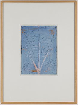 EDDIE FIGGE, gouache on paper, signed and dated 1970.