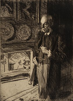 ANDERS ZORN, 1893, state II of II, signed in pencil.