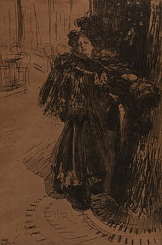 ANDERS ZORN, etching, 1897, III state of III, signed in pencil.