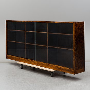 A stained birch chest of drawers, 1930's.