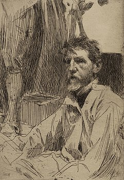 ANDERS ZORN, etching, 1897, state I of II, signed in pencil.