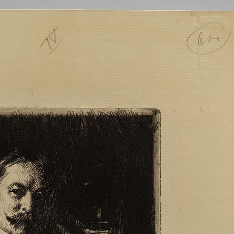 Anders zorn, etching, 1897, i state of iii, signed in pencil.