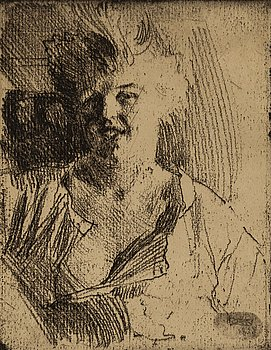 ANDERS ZORN, etching on soft ground, 1898, only state, signed in pencil.