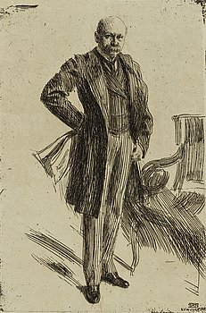ANDERS ZORN, etching, 1900, state III of III, signed in pencil.