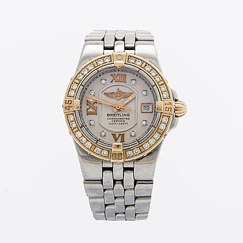 BREITLING Starliner C71340 ladies wristwatch, 100 m/330 ft, 30 mm.