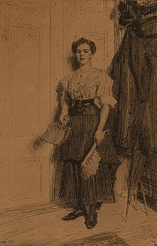 ANDERS ZORN, etching, 1909, state VI of VI, signed in pencil.