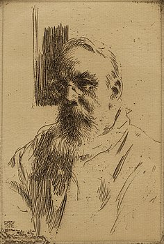 ANDERS ZORN, etching, 1912, III state of III, signed in pencil.