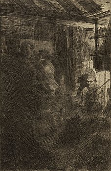 ANDERS ZORN, etching, 1917, III state of III, signed in pencil.