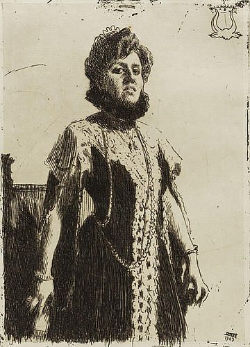 Anders zorn, etching, 1909, ii state of ii, signed in pencil.