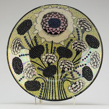 BIRGER KAIPIAINEN, a lutre glazed stoneware bowl from Arabia, signed  Kaipiainen Arabia.