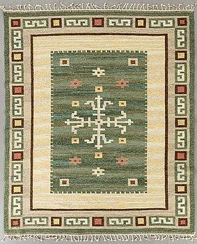 CARL DANGEL, A CARPET, flat weave, ca 206x177 cm.
