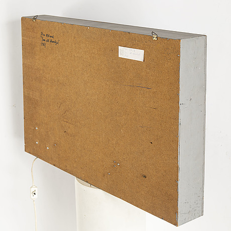 Sten eklund, moving object, wood, oil, motor. executed 1967.