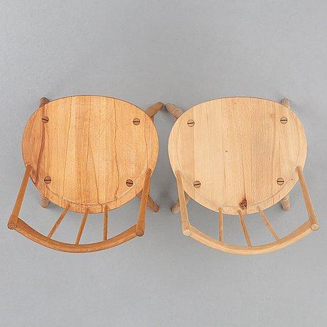 Hans j wegner, two windsor chairs for fritz hansen, denmark, 1940-50's.