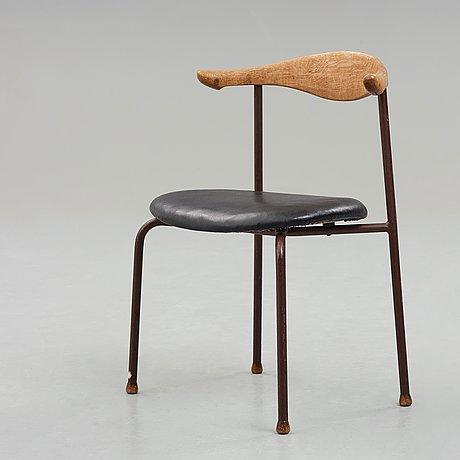 """Hans j wegner, stol, prototyp av modell """"h55"""", fritz hansen, danmark 1955."""