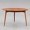 "Hans j wegner, ""hjerte- set"", matbord med sex stolar, fritz hansen, danmark 1950-tal."