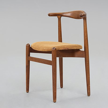 "Hans j wegner, a model ""1934"" chair for fritz hansen, denmark 1940's."
