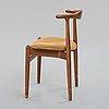 """Hans j wegner, a model """"1934"""" chair for fritz hansen, denmark 1940's."""