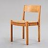 Hans j wegner & bØrge mogensen, a chair for fritz hansen, denmark 1940-50's.
