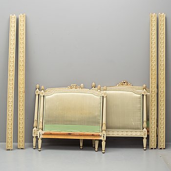 A first half of the 20th Century pair of Gustavian style beds.