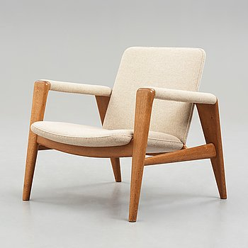 "HANS J WEGNER, ""The Buck Chair"", ""JH523"", Johannes Hansen, Denmark 1950's."