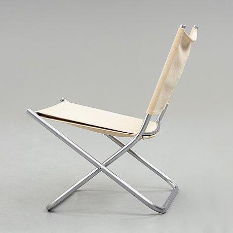 Hans j wegner, a folding chair, prototype for johannes hansen, denmark 1960's.