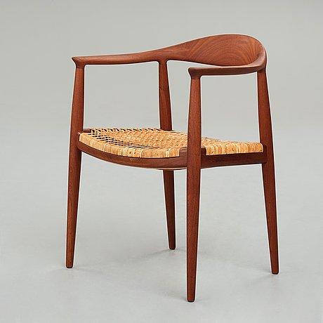 """Hans j wegner, """"the chair"""", model """"jh501"""" for johannes hansen, denmark 1950's."""