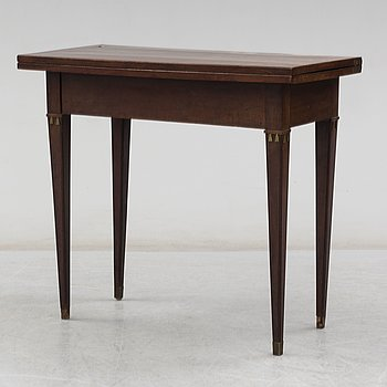 A Swedish late gustavian games table, ca 1800.