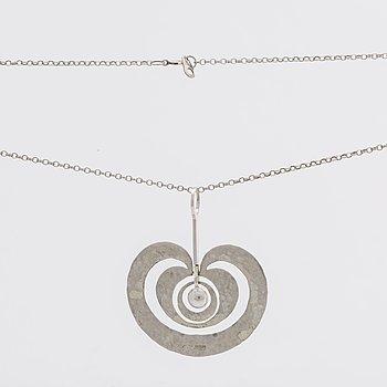 TAPIO WIRKKALA, pendant and chain, sterling silver.