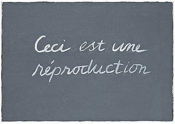 """78. Cecilia Edefalk, """"Ceci est une réproduction""""."""