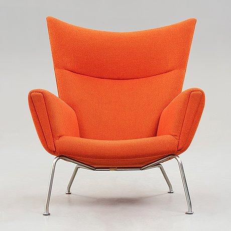 """Hans j wegner, a """"wing chair"""" for ap-stolen, denmark, 1960's."""
