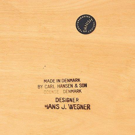 "Hans j wegner, a model ""ch34"" chair, ""Åget"", for carl hansen & søn, denmark 1960's."