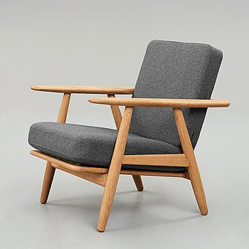 "HANS J WEGNER, fåtölj, ""GE 240"", ""Cigarren"" Getama, Danmark, 1950-60-tal."