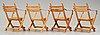 """Hans j wegner, 4 folding chairs, model """"pp 90"""", for p.p møbler, denmark 1970's."""