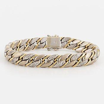 ARMBAND, 18K guld med diamanter, Tännler AG Schweiz.