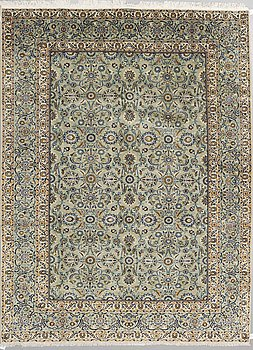 A CARPET, Kashan, signed Keshan Sadat, around 336 x 254 cm.