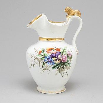 A circa 1900 porcelain pitcher, Bing & Grøndahl, Denmark.