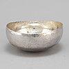Rey urban, a sterling silver bowl, stockholm, 1981.