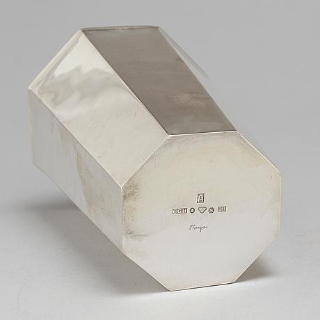 A silver vase by vera ferngren for cg hallberg stockholm 1961